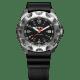 taktyczny zegarek traser P49 Survivor -stalowa koperta, czarna tarcza i czarny pasek kauczukowy