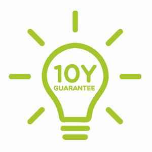 Ikonka 10 lat gwarancji na światło