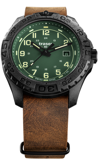zegarek-traser-109038-P96 -OdP-Evolution-Green-leather-NATO-day