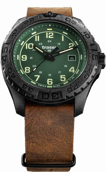 zegarek-traser-109038-P96 -OdP-Evolution-Green-leather-NATO-day