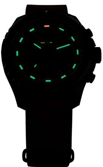 zegarek-traser-109047-P96-OdP-Evo-Chrono-Green-leather-NATO-_night