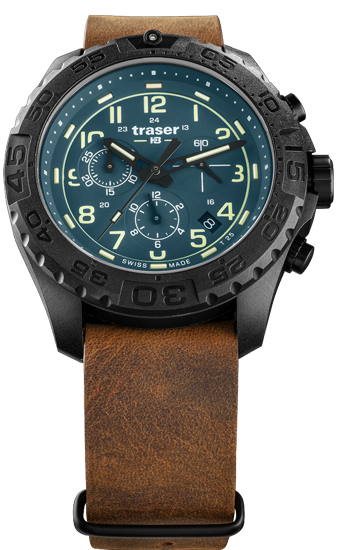 zegarek-traser-109049-P96-OdP-Evo-Chrono-Petrol-leather-NATO-day