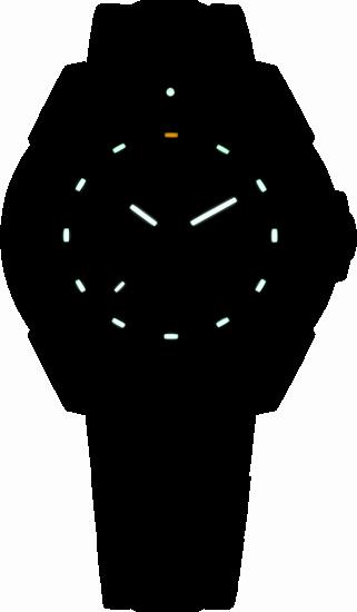 tytanowy zegarek taktyczny P49 Special Force marki traser w nocy