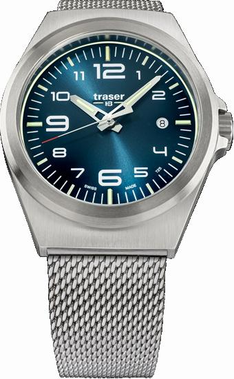 zegarek traser P59 Essential M blue na meszowej bransolecie