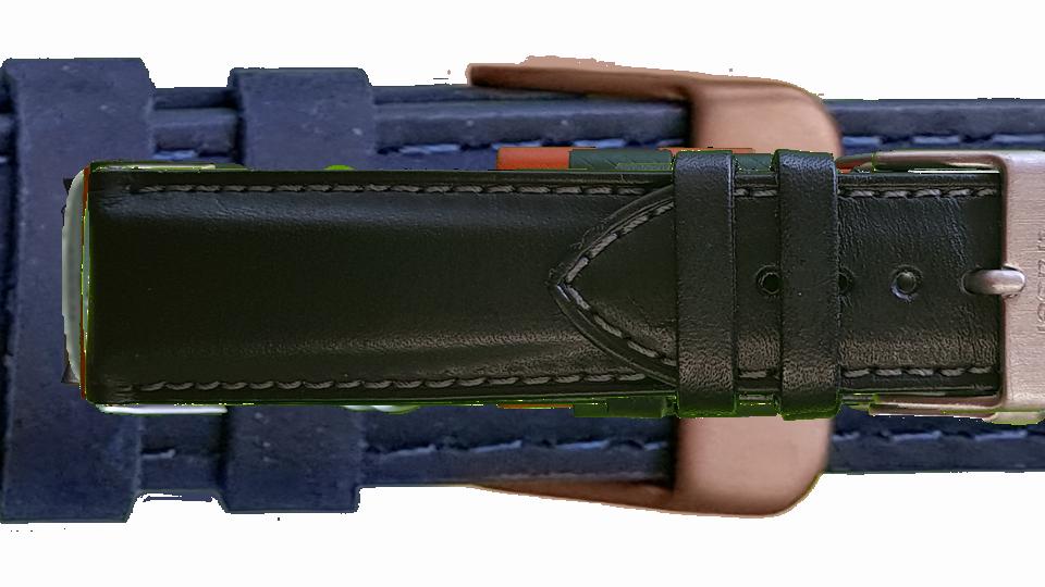czarny pasek skózany z klasycznym zapięciem do zegarka marki traser