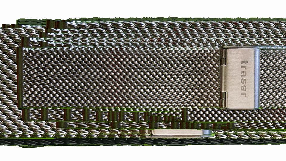 stalowa bransoleta typu mesh do zegark marki traser