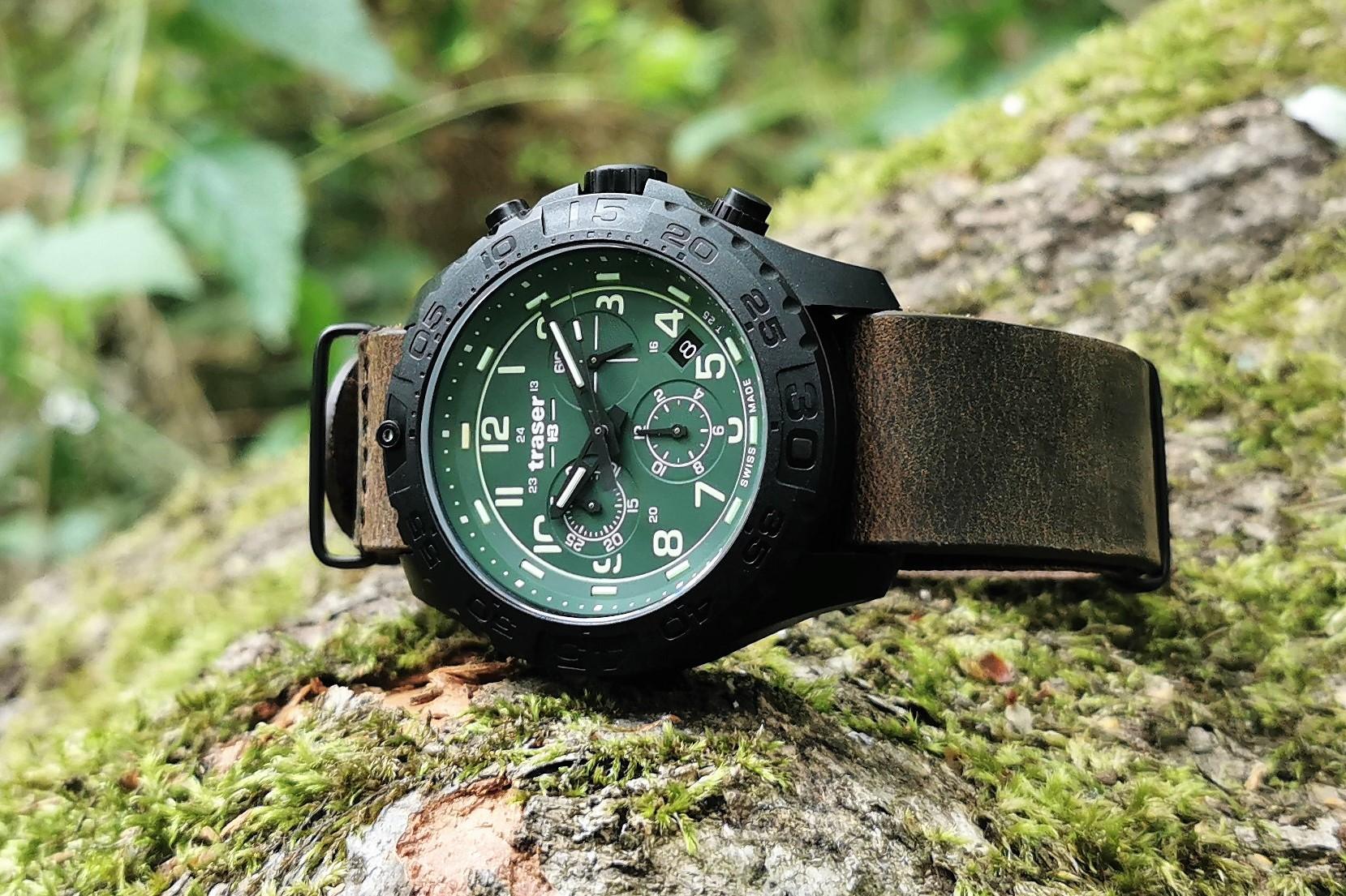 P96 Evolution Chrono Leather Stap1