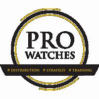 czarno - złote logo PRO WATCHES s.c.