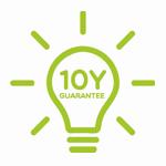 piktogram 10 lat gwarancji na światło marki traser
