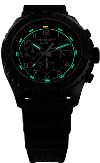 zegarek-traser- 108679-P96-OdP Evolution-Chrono Black-rubber-evening