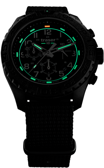 zegarek-traser- 108680-P96-OdP Evolution-Chrono Black-NATO-evening