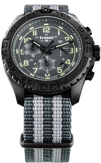 zegarek-traser 109046-P96-OdP- Evolution-Chrono- Grey-NATO-day
