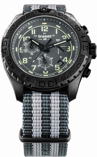 zegarek-traser 109046-P96-OdP- Evolution-Chrono- Grey-NATO-day