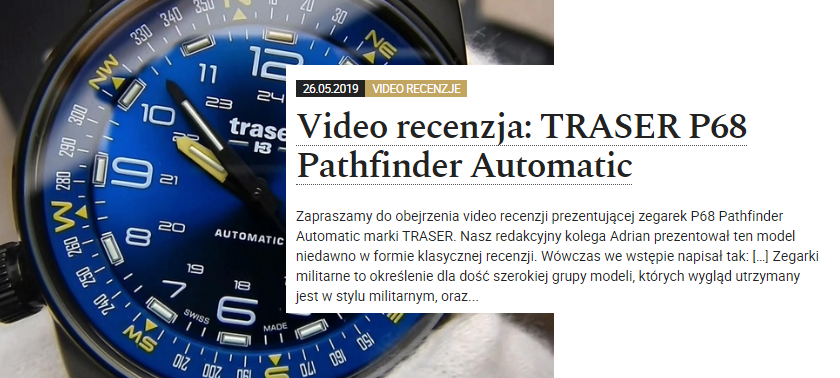 Video recenzja traser P68 Pathfinder Automatic Blue