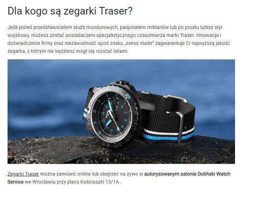 taktyczny zegarek traser P66 Blue Infinity na kamieniu z morzem w tle