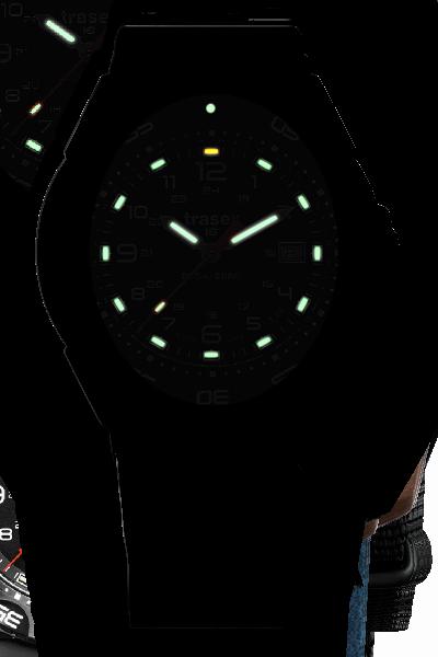 taktyczny zegarek traser P49 Tornado Pro w ciemności