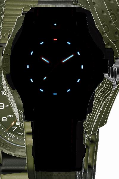 taktyczny zegarek traser P66 w ciemności