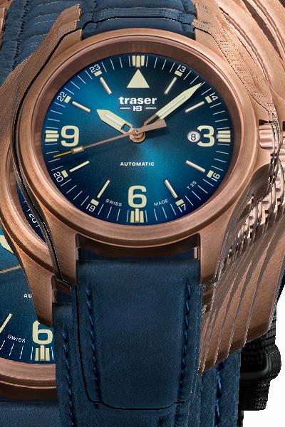 taktyczny zegarek traser P67 Officer Pro Automatic Bronze Blue