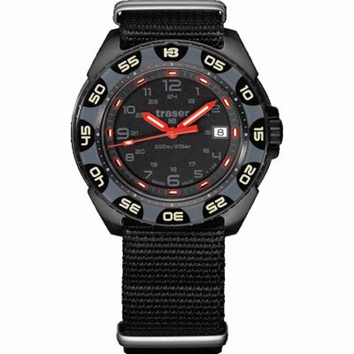 taktyczny zegarek traser P49 Red Alert T100 na pasku tekstylnym