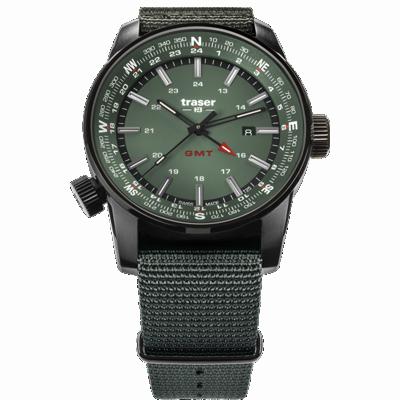 taktyczny zegarek traser P68 Pathfinder GMT Green