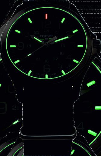 Zegarek taktyczny traser Officer Pro Black ze świecącym systemem trigalight
