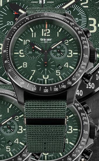 traser_P67_Officer_Pro_Chronograph_Green_NATO_Dzień