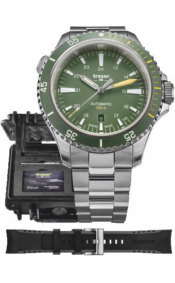 zegarek_traser_P67_diver_automatic_green_110328_zestaw_dzień