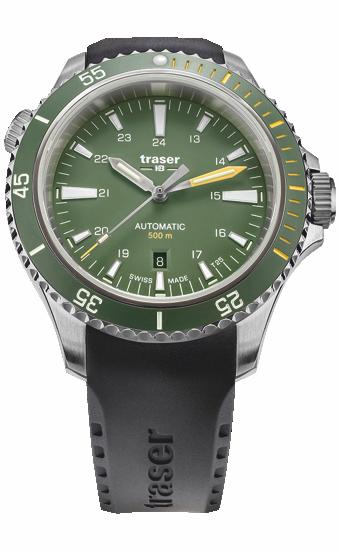 zegarek_traser_P67_diver_automatic_green_black_rubber_strap_110326_dzień