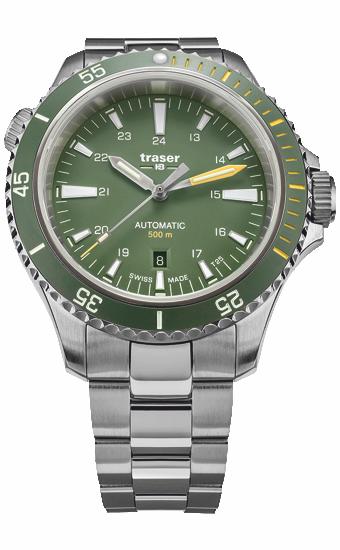 zegarek_traser_P67_diver_automatic_green_stainless_steel_110327_dzień